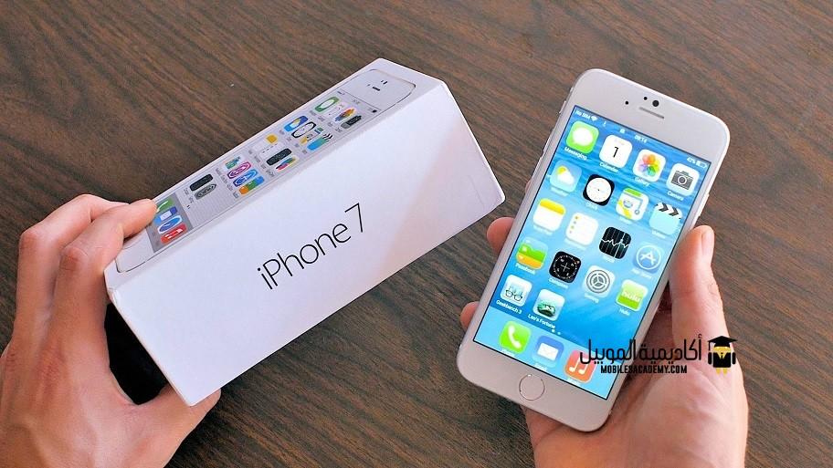 محتويات علبة iPhone 7