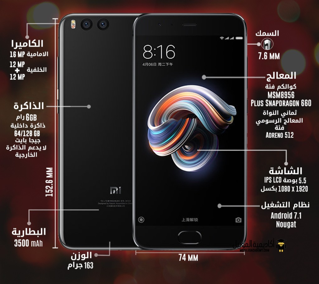 Xiaomi Mi Note 3 specification