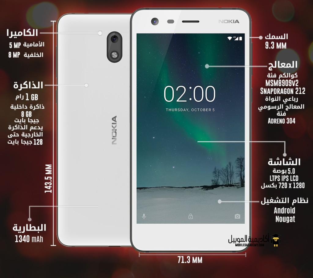 Nokia 2 specification