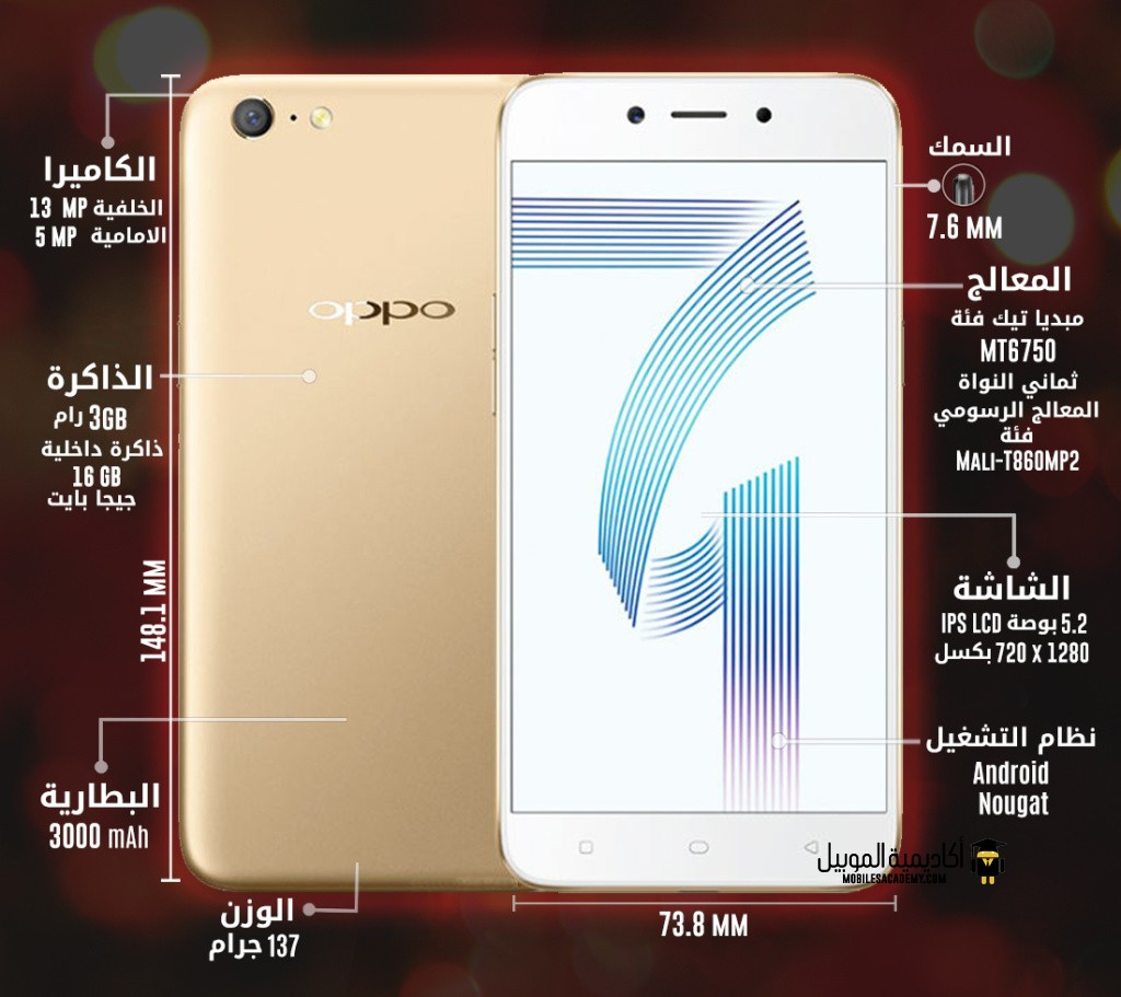 Oppo A71 specification