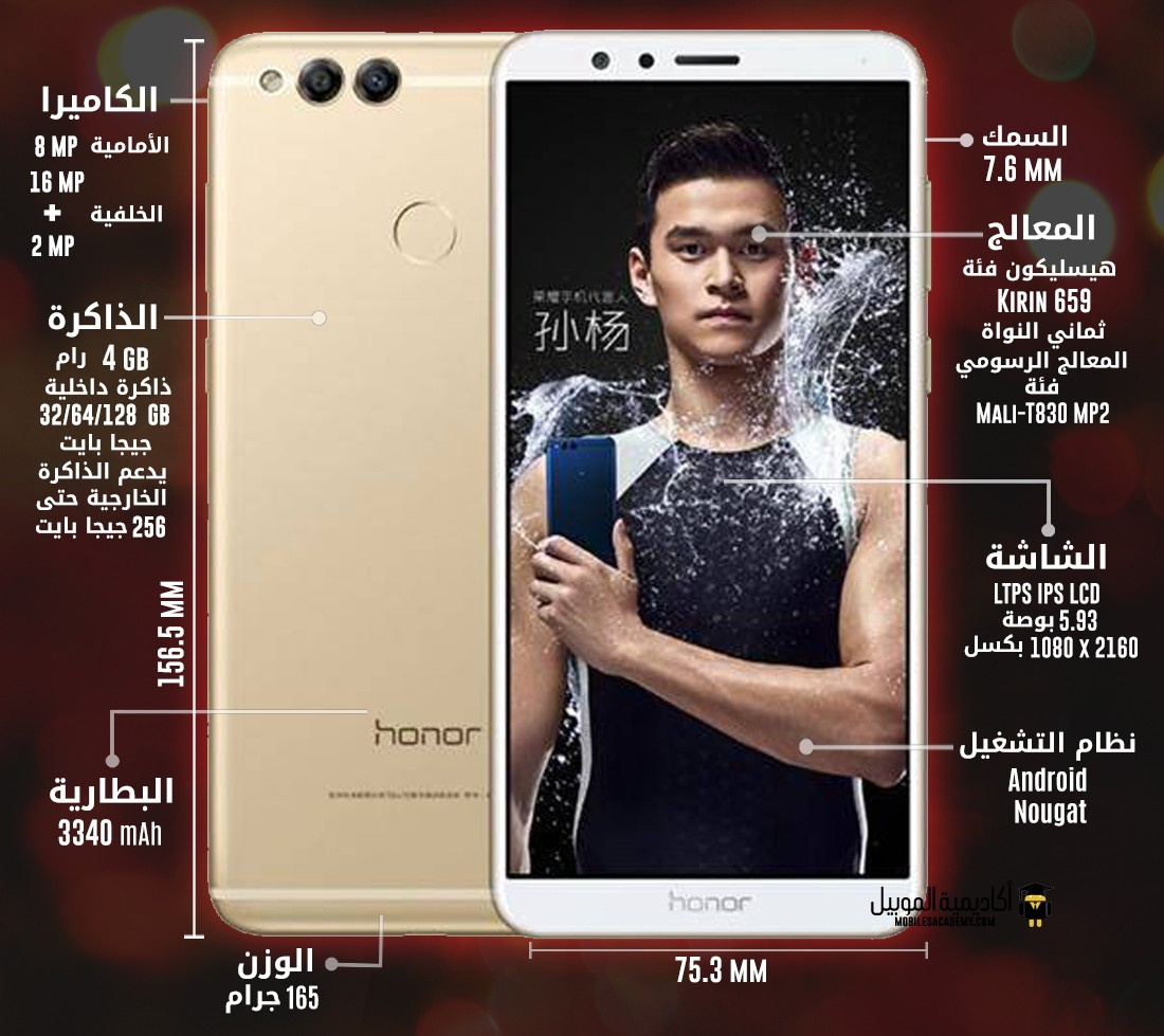 Huawei Honor 7X specification