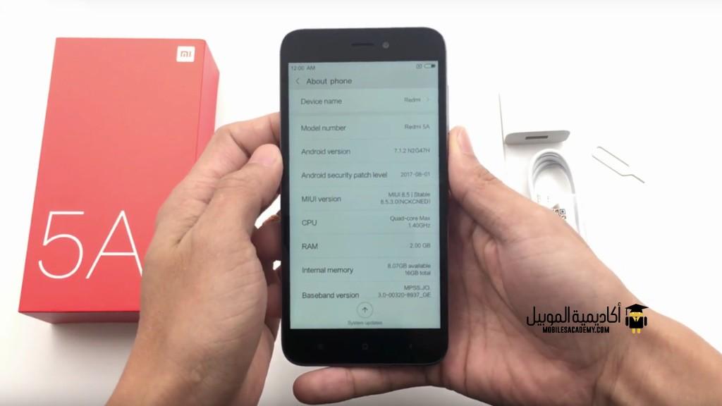 Xiaomi Redmi 5A Os