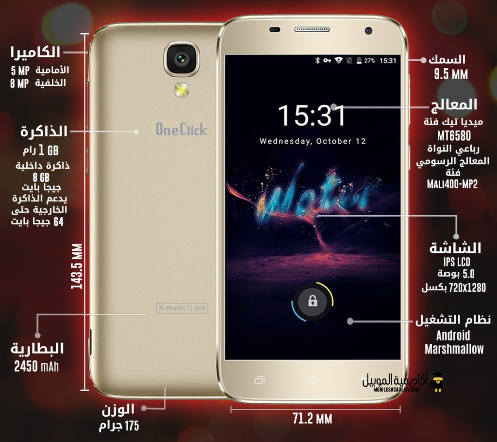OneClick X-Music II Pro specification